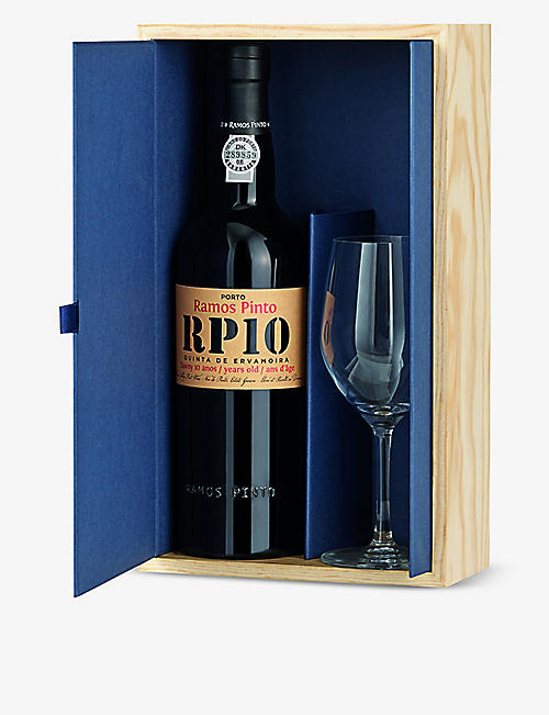 PORTUGAL: Ramos Pinto 10-year-old tawny port and glass set
