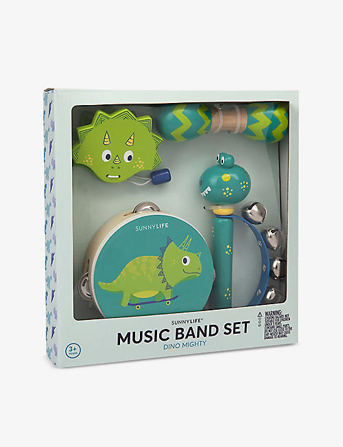 SUNNYLIFE: Dino Mighty Music Band wooden toy set