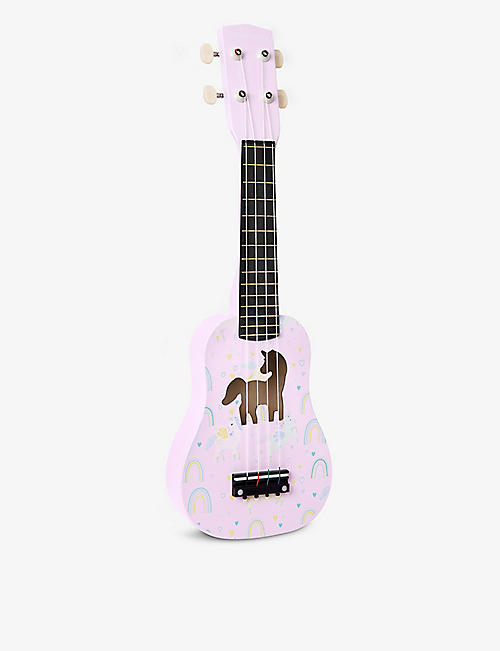 SUNNYLIFE: Enchanted unicorn design pinewood ukulele 53cm