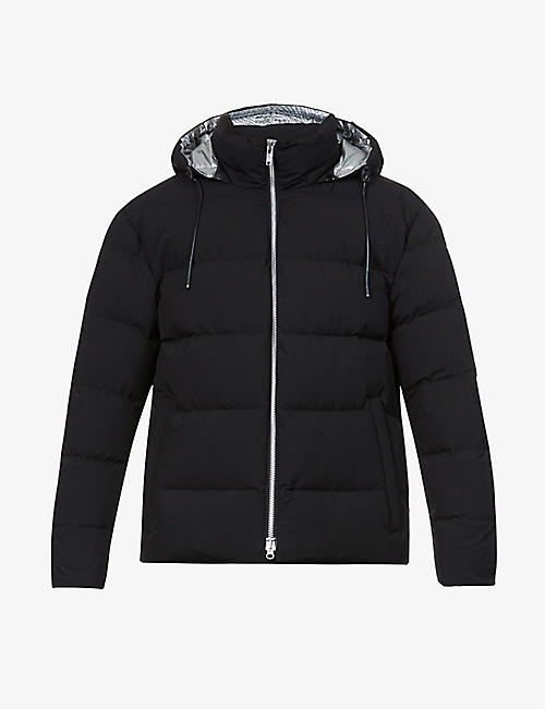 MOOSE KNUCKLES: Allen drawstring-hood shell-down jacket