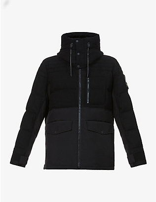 MOOSE KNUCKLES: Flemington drawstring-hood wool-blend jacket