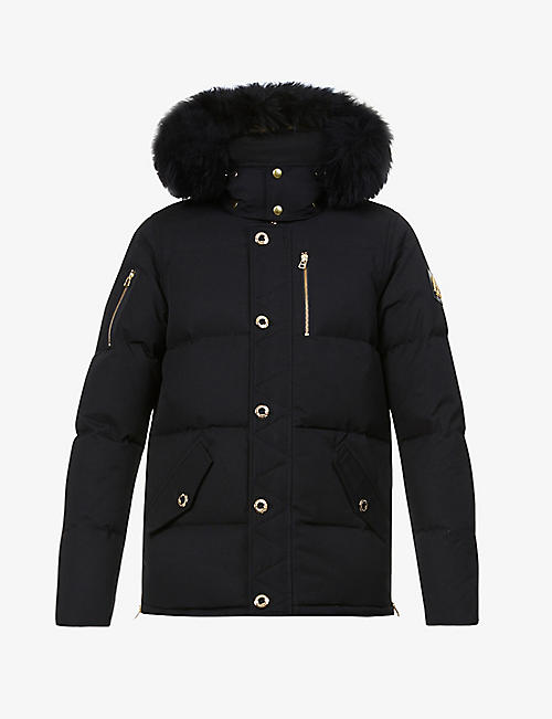 MOOSE KNUCKLES: Minnentonka cotton-blend down and shearling parka