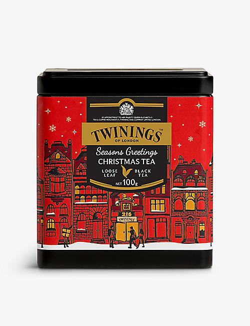 TWININGS: Season Greetings Christmas loose-leaf spiced black tea 100g