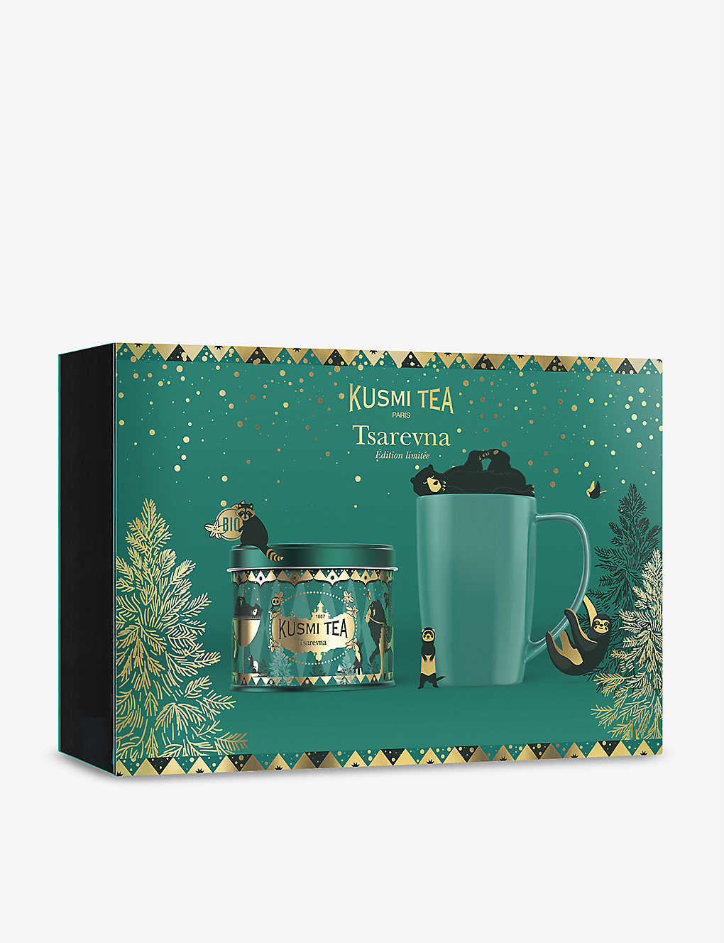 KUSMI TEA: Tsarevna tea and mug gift set 450g