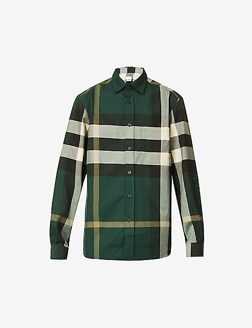 BURBERRY: Calvert checked cotton shirt