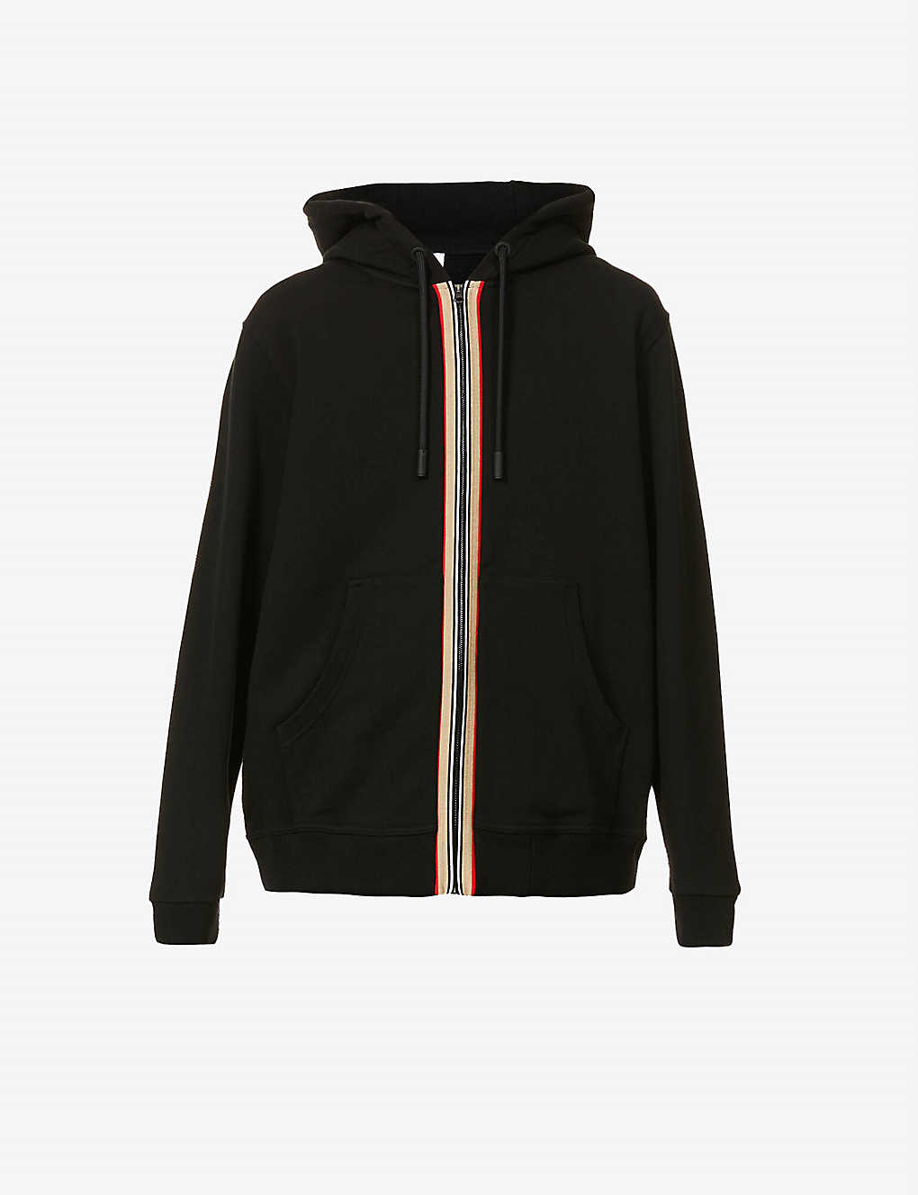 BURBERRY: Lexington contrast-stripe cotton hoody