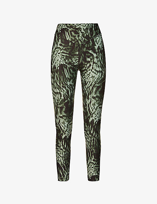GOOD AMERICAN: Wild Night graphic-print high-rise stretch-jersey leggings