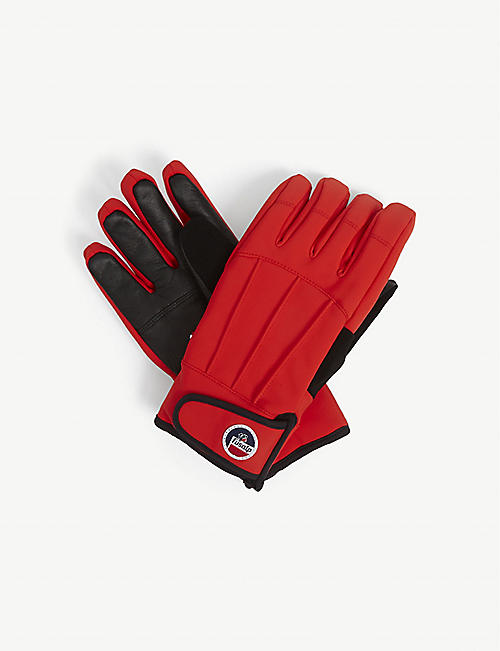FUSALP: Glacier leather and technical fabric gloves
