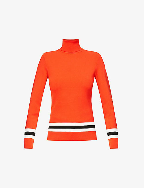 FUSALP: Judith striped-trim knitted jumper