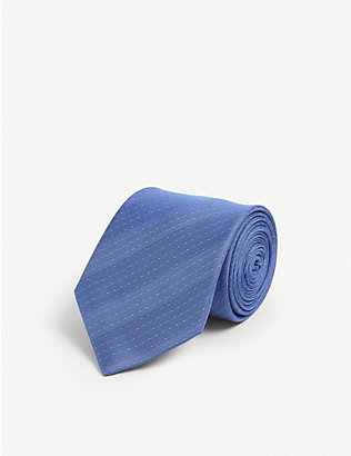 LANVIN: Pin dot silk tie