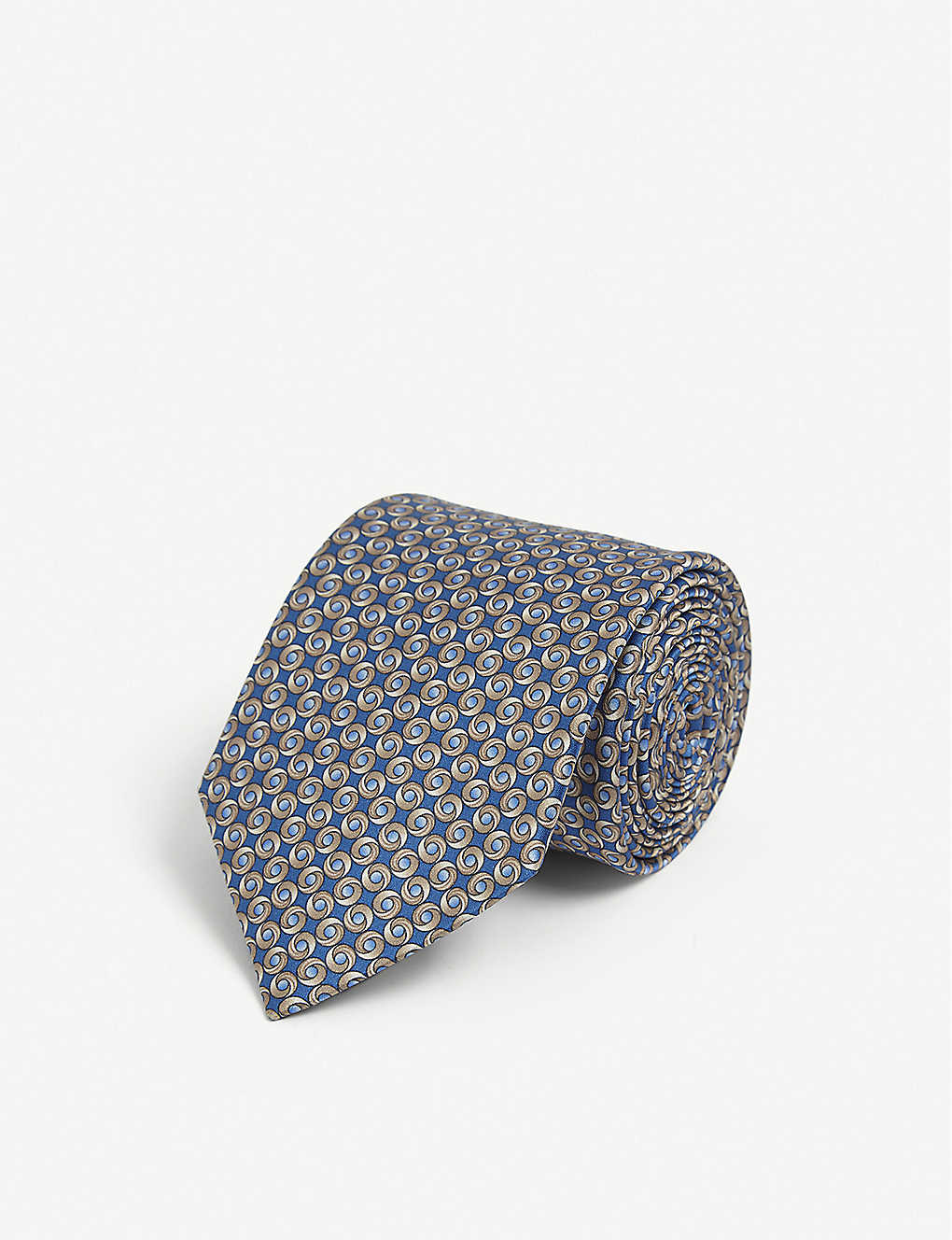 LANVIN: Circle-pattern silk tie
