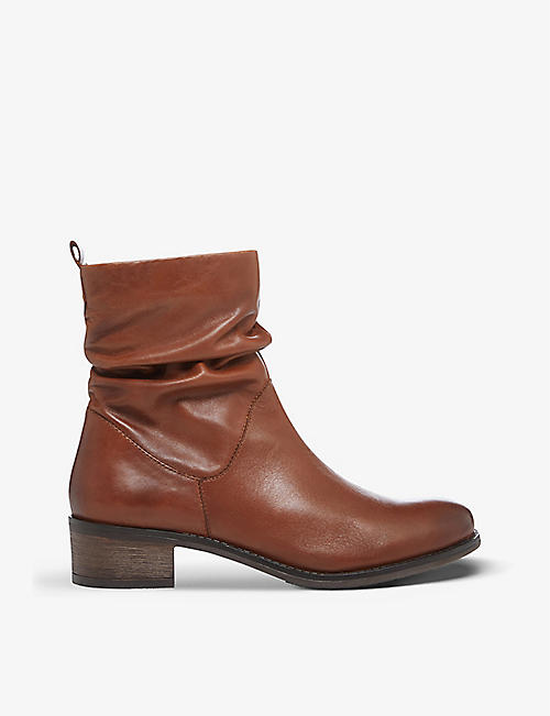 DUNE: Pagers leather ankle boots