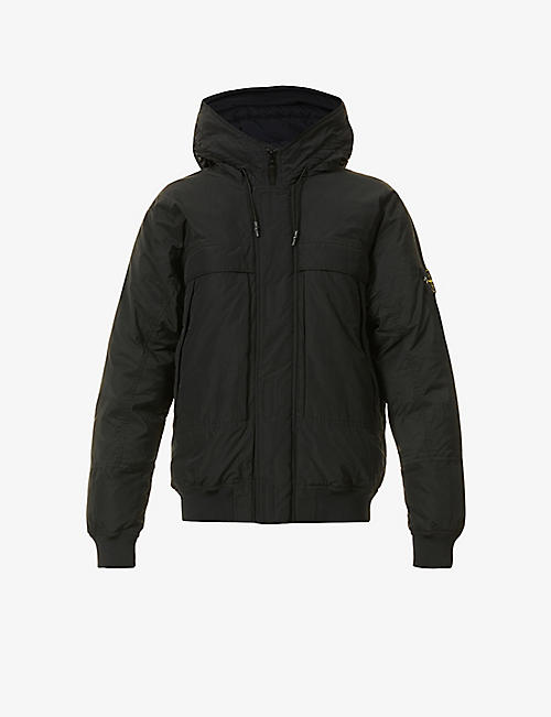 STONE ISLAND: Brand-patch shell-down jacket