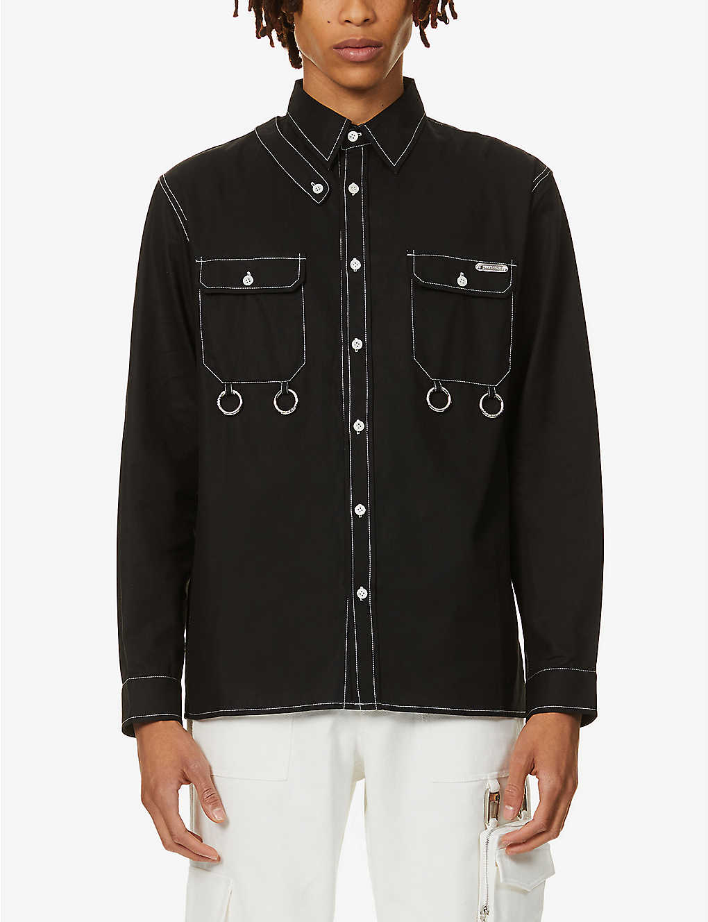 PRIVATE POLICY: Harness relaxed-fit cotton shirt