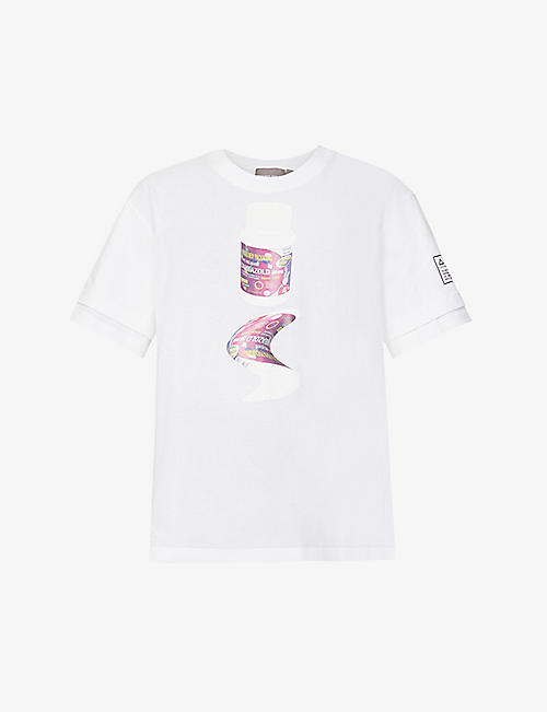 PRIVATE POLICY: Pill Bottles graphic-print cotton-jersey T-shirt