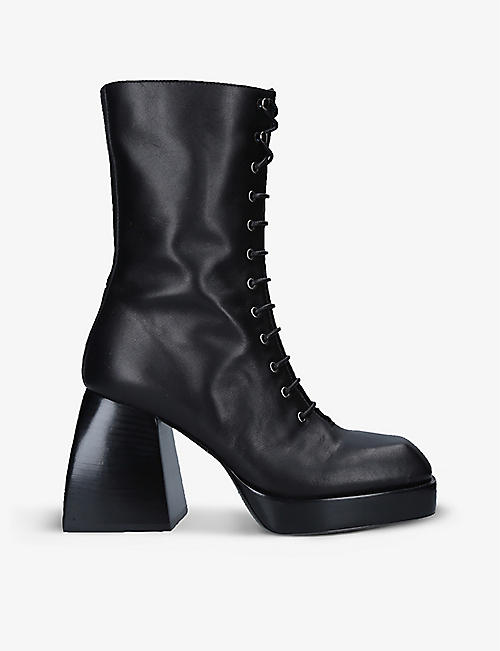 NODALETO: Bulla Lace Up leather ankle boots