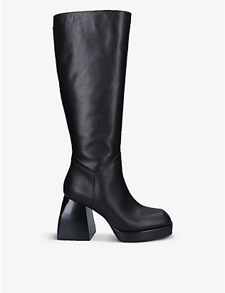 NODALETO: Bulla Solal leather knee-high boots