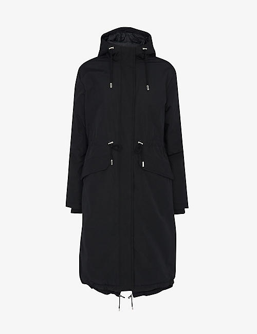 WHISTLES: Coby cotton and recycled-polyester parka coat