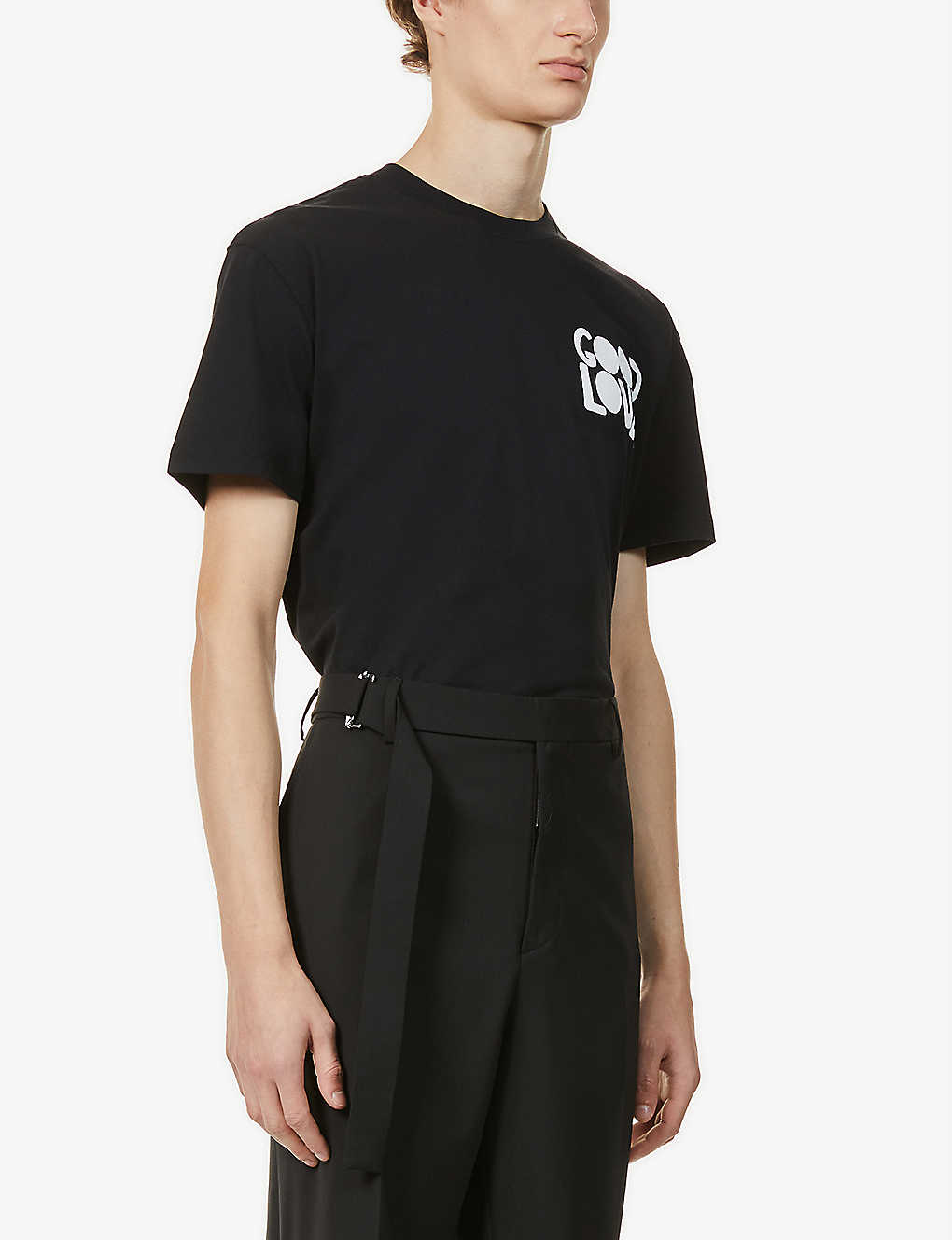 VALENTINO: Good Lover brand-print cotton-jersey T-shirt