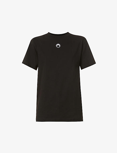 MARINE SERRE: Large Fit organic cotton T-shirt