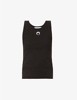 MARINE SERRE: Moon-print stretch-organic cotton vest