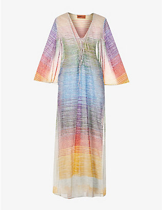 MISSONI: Metallic striped woven cover-up