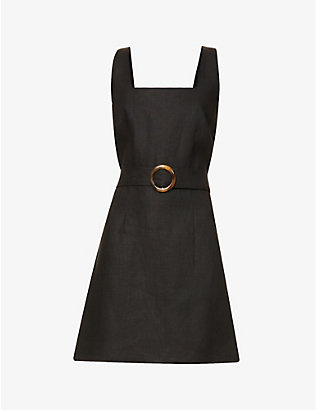 LISA MARIE FERNANDEZ: Charlotte square-neck linen mini dress
