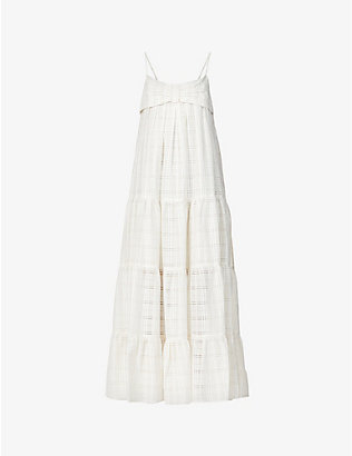LISA MARIE FERNANDEZ: St Tropez cotton-blend midi dress