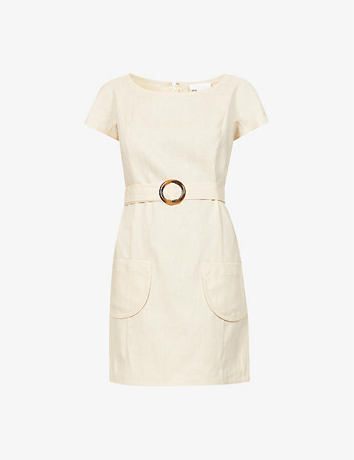 LISA MARIE FERNANDEZ: Belted linen mini dress