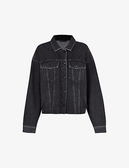 ALLSAINTS: Piper oversized cotton-blend denim jacket