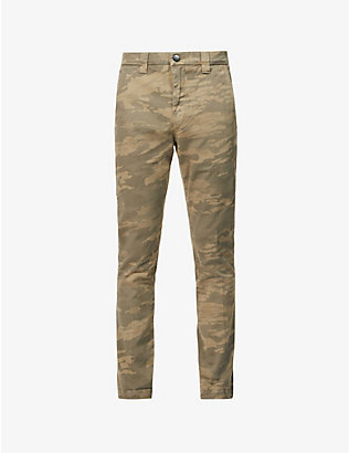 J BRAND: Kieran camouflage-print relaxed-fit straight stretch-cotton trousers