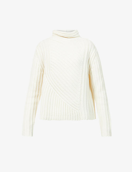 ME AND EM: Cable-knit wool and cashmere-blend jumper