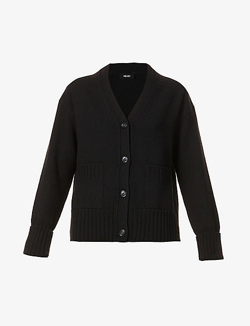 ME AND EM: V-neck wool and cashmere-blend cardigan