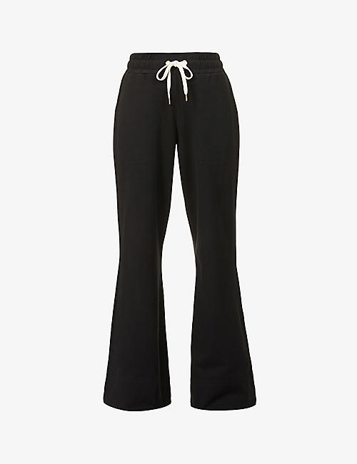 ME AND EM: Off Duty wide-leg mid-rise stretch-cotton trousers