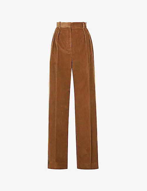 THE ROW: Chandler flared high-rise corduroy trousers
