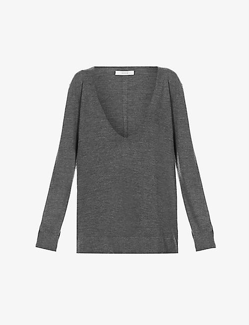 THE ROW: Baba V-neck cashmere and silk-blend jumper