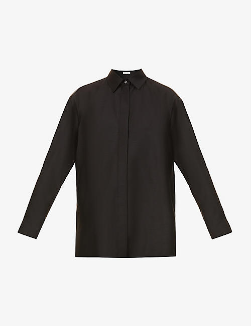 THE ROW: Sisea wool and silk-blend shirt