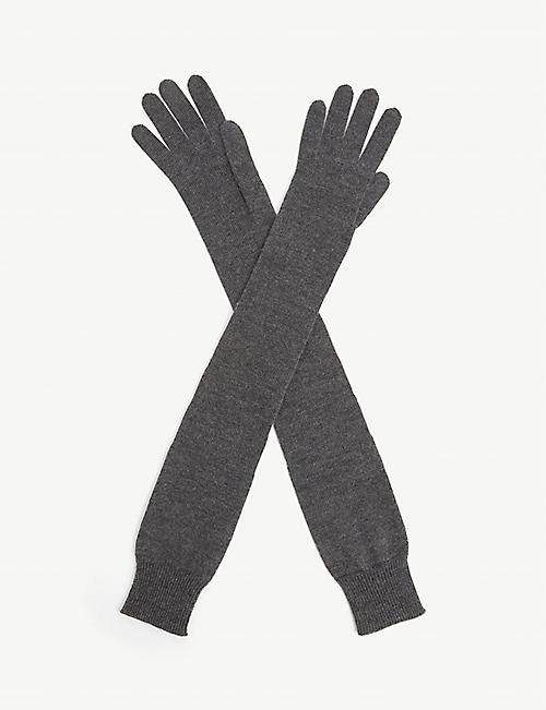 THE ROW: Besede cashmere and silk-blend gloves