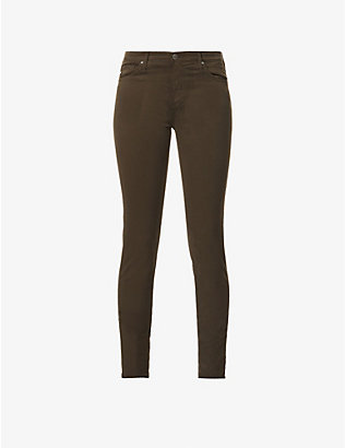 AG: Prima skinny mid-rise cotton-blend jeans