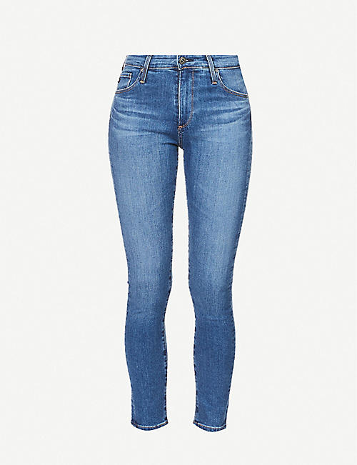 AG: The Farrah Ankle cropped skinny high-rise jeans
