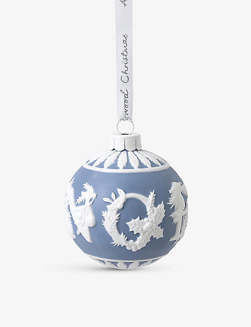WEDGWOOD: Christmas Noel porcelain bauble 9cm