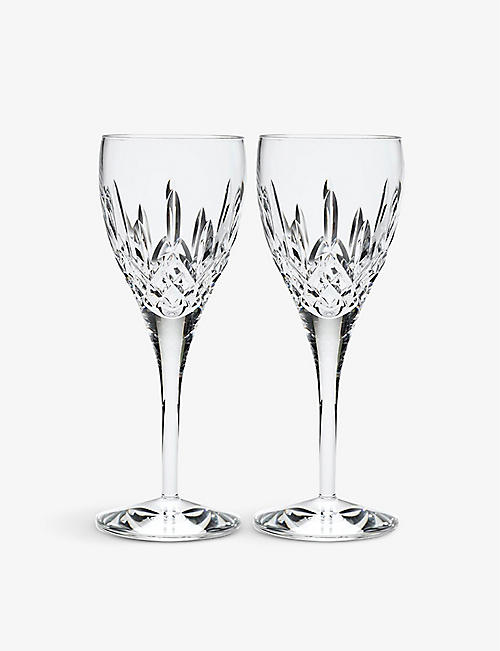 WATERFORD: Lismore Nouveau crystal goblets set of two