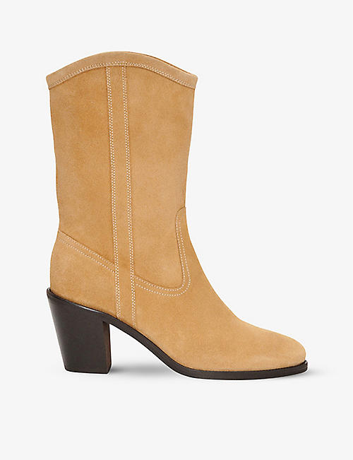 CLAUDIE PIERLOT: Camargue mid-top leather western boots