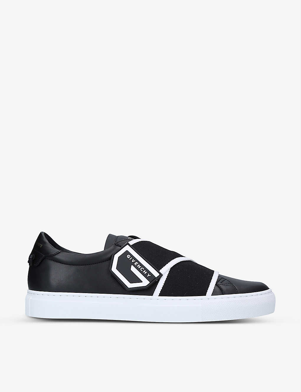GIVENCHY: Knot logo-strap leather trainers