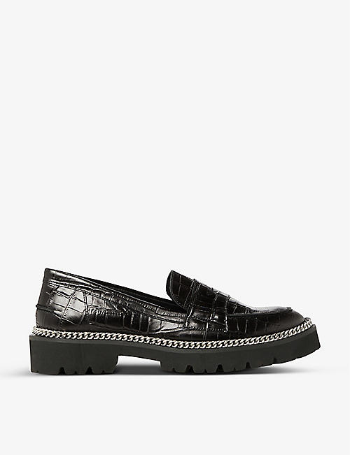 DUNE: Glorious crocodile-embossed leather loafers