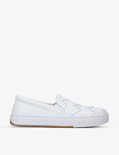 BOTTEGA VENETA: Intrecciato low-top leather trainers