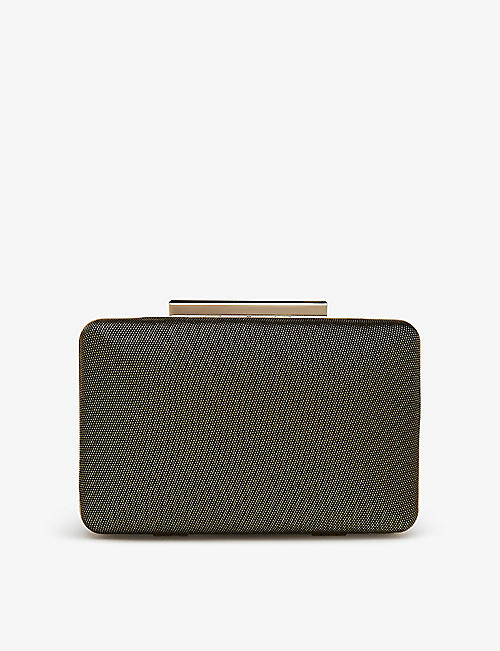 LK BENNETT: Dotty woven clutch bag
