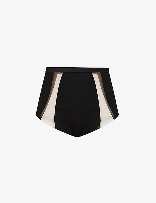 MYLA: Wells Street high-rise stretch-woven briefs