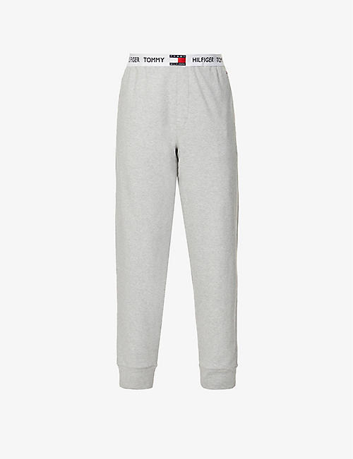 TOMMY HILFIGER: Logo-print cotton-jersey jogging bottoms