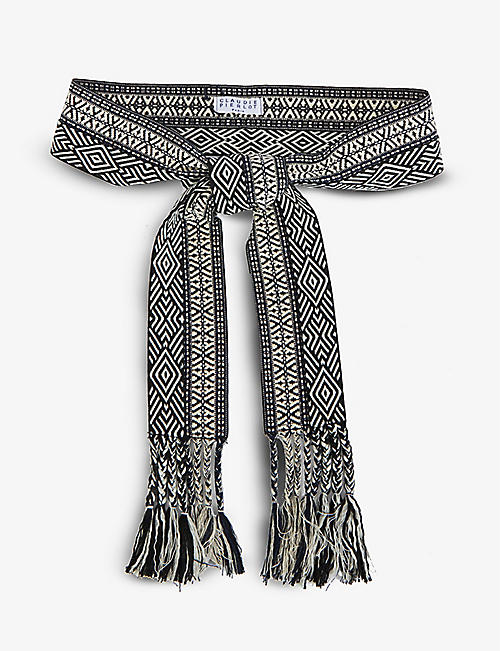 CLAUDIE PIERLOT: Anouer graphic-print cotton belt